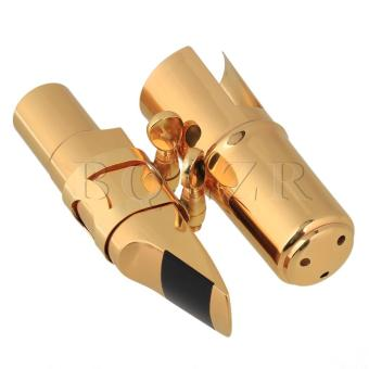 #7 B-flat Tenor Saxophone Mouthpiece Brass 9.5cm Length Gold - intl