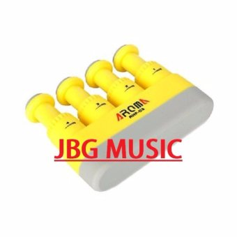 Aroma AHF-03 Portable Guitar Bass Piano Hand and Finger ExerciserMedium Tension Hand Grip Trainer Hand Exerciser (Yellow)