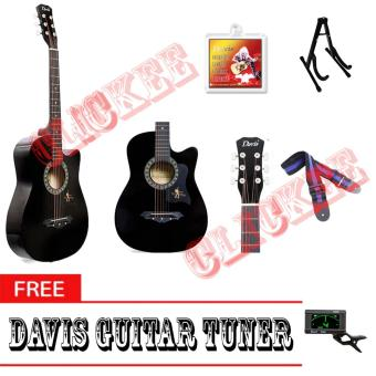 Davis Hot Picks Acoustic Guitar Package with FREE Guitar Tuner (Black)