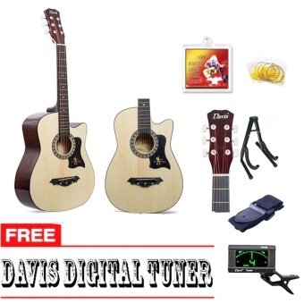 Davis Hot Picks Acoustic Guitar Package with FREE Guitar Tuner (Natural)