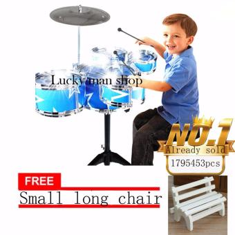 JAPAN and USA best selling free Small long chair Jazz Drum+ChairKids Early Education Toy Percussion Instrument Gift