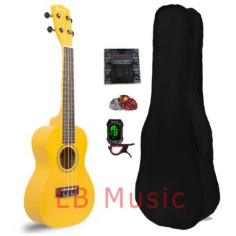 Jasmine Concert with tuner Colored Ukulele Ukelele complete set(Yellow)