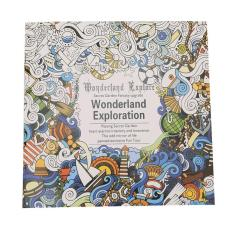 LALANG Secret Garden Wonderland Exploration Painting Coloring Book English Edition 24 Pages