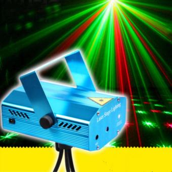 Laser Stage Lighting Mini Voice Control Family Christmas Party Club Disco DJ LED Light(Blue)