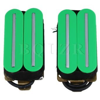 Magnets Dual Coil Dual Rail Humbucker Pickup for Electric Guitar Green