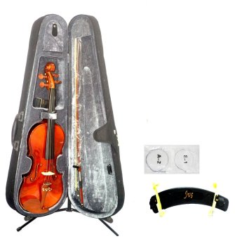 Mozart 3/4 Violin (Natural Glossy) with Shoulder Rest and String