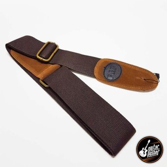 Nylon Suede 2 inches Adjustable Guitar Strap - Dark Brown
