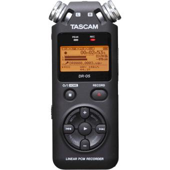 Tascam DR-05 (Version 2) Portable Handheld Digital Audio Recorder(Black) with Deluxe accessory bundle