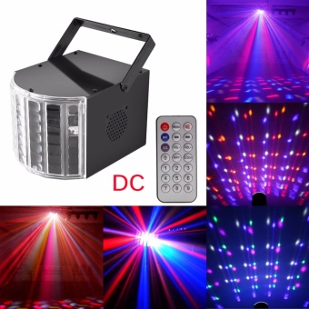 U'King DJ Lights LED Stage Lighting Dance Club Party Disco Light 6W DC Stage Effect Light Auto Sound Mode with Music Remote Control Black - intl