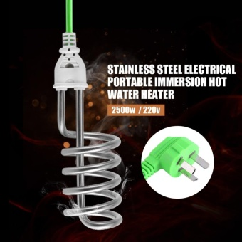 2500W 220V Stainless Steel Electric Portable Immersion Heater Boiler Water Heating Element - intl