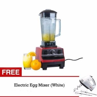 2L Commercial 3HP Blender Mixer HEAVY DUTY Ice Crusher 2200W (Red)With FREE Scarlet Hand Mixer