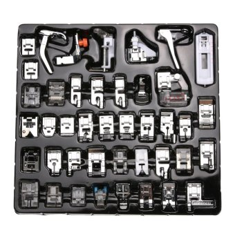 42pcs Domestic Sewing Machine Foot Feet Snap On For Brother SingerSet - intl