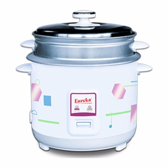 Eureka ERC-1.0L Rice Cooker with Steamer (5 Cups) (White)