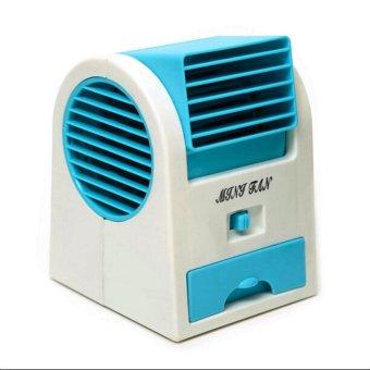 gmy usb mini air conditioning fan cooler blue lazada ph