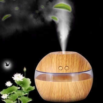 Hanyu Ultrasonic Aroma Oil Diffuser Air Humidifier Purifier Air Cleaner(Light wood color) - intl