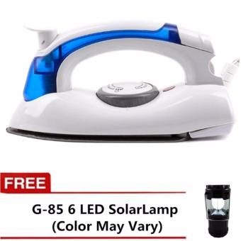 Hetian Portable Travel Mini Steam Electric Flat Iron With LED SolarCamping Lamp Rechargeable Lantern