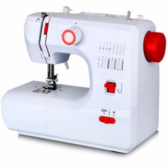 LHR FHSM-700 Double Thread Automatic Pedal Multi Sewing Machine (White/Red)