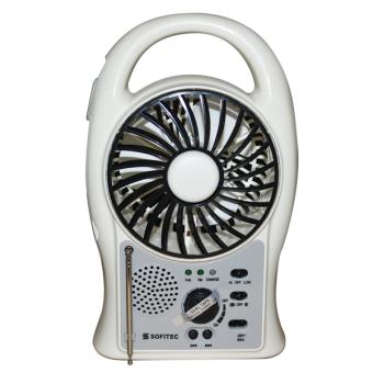 Sofitec SRP-2402 Rechargeable Multifunctional Fan FM (White)