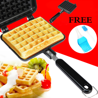 Waffle Maker Pan Roll Machine Non-Stick Pan (Black)