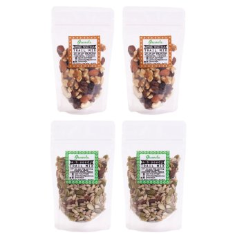 Greenola A-B-Seedy + Great Wall-nut Trail Mix Set of 4