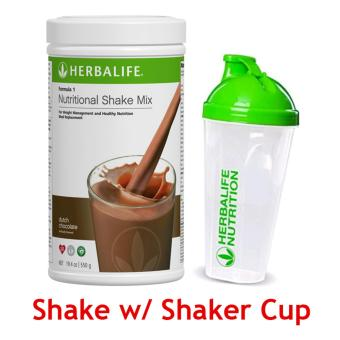 Herbalife Nutritional Shake Dutch Choco Canister with Shaker Cup