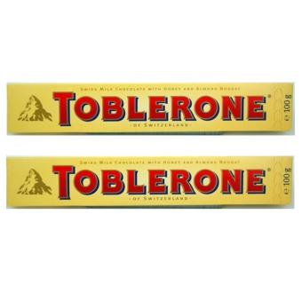 Toblerone Milk Chocolate with Honey and Almond 100g - Set of 2