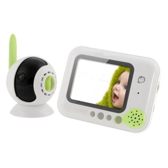 2 4g wireless baby monitor 3 5 inch lcd screen wireless baby care monitor newborn monitoring. Black Bedroom Furniture Sets. Home Design Ideas
