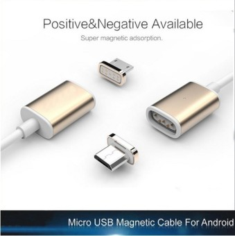 1.9cm Micro USB to Magnetic Charger Cable Adapter Converter for Universal (Gold) (Intl)