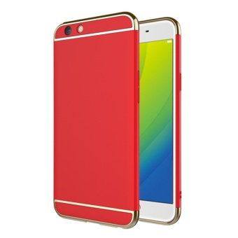 3 in 1 PC Protective Back Cover Case For OPPO F3 (Red) - intl