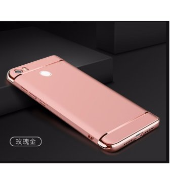 3 in 1 PC Protective Back Cover Case For Xiaomi Mi Max (Rose Gold) - intl