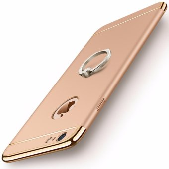 3 in 1 Ultra Slim Metal Hybrid Anti-skidding Hard PC Back Case Cover With Ring Kickstand for Apple iPhone 6/6S(Gold) - intl