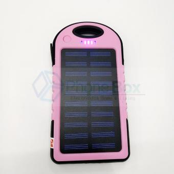 35000mAh Waterproof Solar Powerbank with LED (pink)