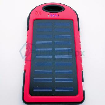35000mAh Waterproof Solar Powerbank with LED (red)