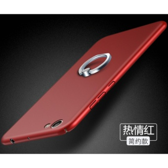 360 PC ultra-thin Phone Case With Metal Ring For Vivo V5 Lite/Red -intl