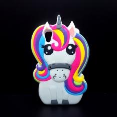 PHP 498. 3D Cartoon Unicorn Soft Silicone case for Sony Xperia XA universal Cute Rainbow Horse ...