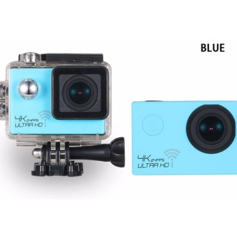 4K HD 1080P 16MP Helmet Sport Action Waterproof Camera DV Cam forGopro (Blue)
