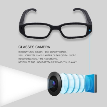 720P Glasses Spy Camera Security Video Recorder with 5mega pixelsCMOS camera - intl