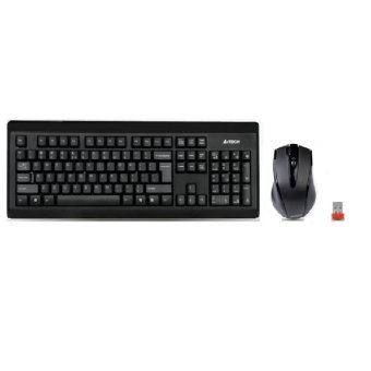 A4 Tech 6100F Padless Wireless Keyboard and Optical Mouse Combo(Black)