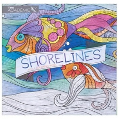 Adult Coloring Book Pam Varacek Shorelines By Mead Academie Stress Relief Sketching Color Books 54018