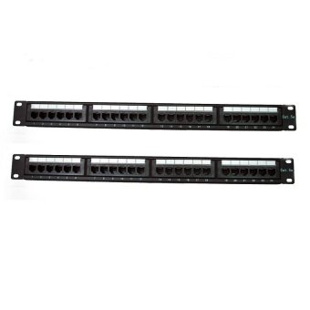 AMP 24PortS Cat5E Patch Panel Set of 2(NEW)