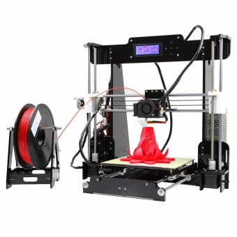 Anet A8 High Precision Big Size Desktop 3D Printer Kits Reprap Prusa i3 DIY Self Assembly LCD Screen with 8GB SD Card Printing Size 220*220*240mm Support ABS/PLA/HIP/PP/Wood Filament Black - intl