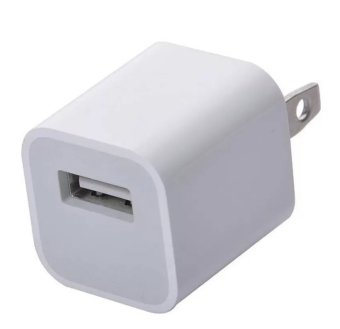 Apple 5 Watts USB Power Adapter Charger for iPhone 4/4s/5/5s/6/6s/6Plus/6S Plus (White)