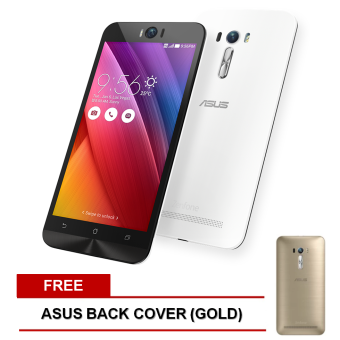 Asus ZenFone Selfie 32GB (White) with FREEBack Cover (Gold)