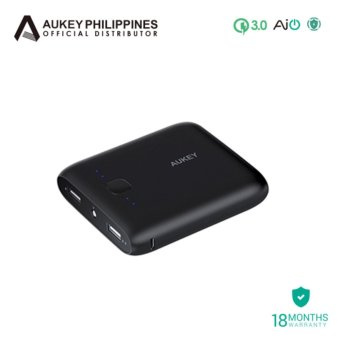 Aukey Pocket 10000mAh Power Bank - Black
