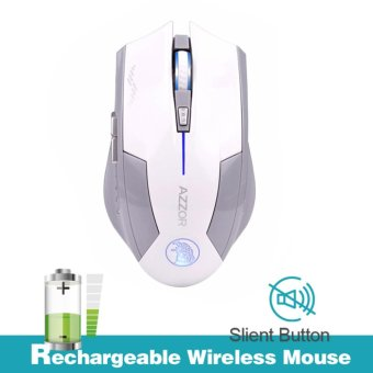 AZZOR Rechargeable Wireless Mouse Mice Slient Button Computer Gaming 2400DPI For PC Laptop - intl