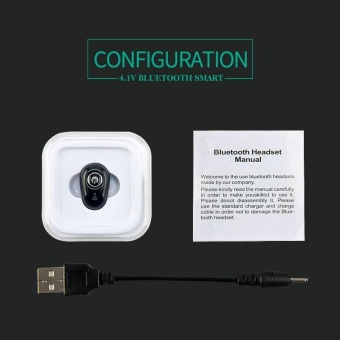 Bluetooth V4.1 in ear Mini Wireless earphone Headset headphone for smart Phones - intl