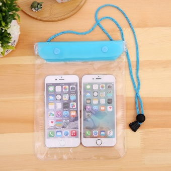 BuyBuy Shop 2pcs Big Size Universal Mobile Phone Waterproof Dry Bag Case Water-Resistant Dry Bag for Smartphones Glasses Wallet for iPhone Samsung xiaomi Large Size - intl