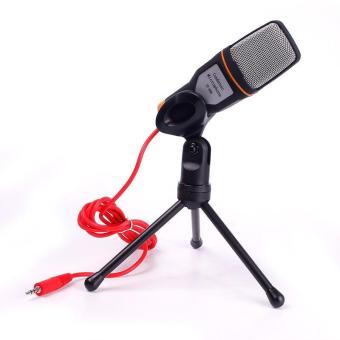 BUYINCOINS Mini Condenser Podcast Microphone with Tripod for PC / Laptop / Skype / MSN