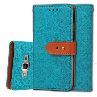 BYT Euro Mural Leather Flip Cover Case for Samsung Galaxy J2 Prime- intl
