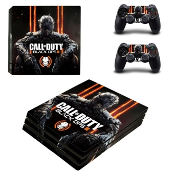 Call Of Duty Black Ops Game Skin Sticker for Sony Playstation 4 PS4Pro Promotion Console +2Pcs Controller Stickers YSP4P-0437 - intl